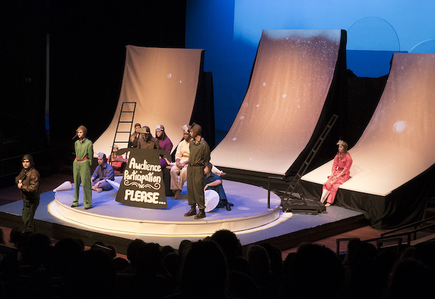"A snapshot from a performance of ""Little Prince"" at Augusta University's Maxwell Theatre"